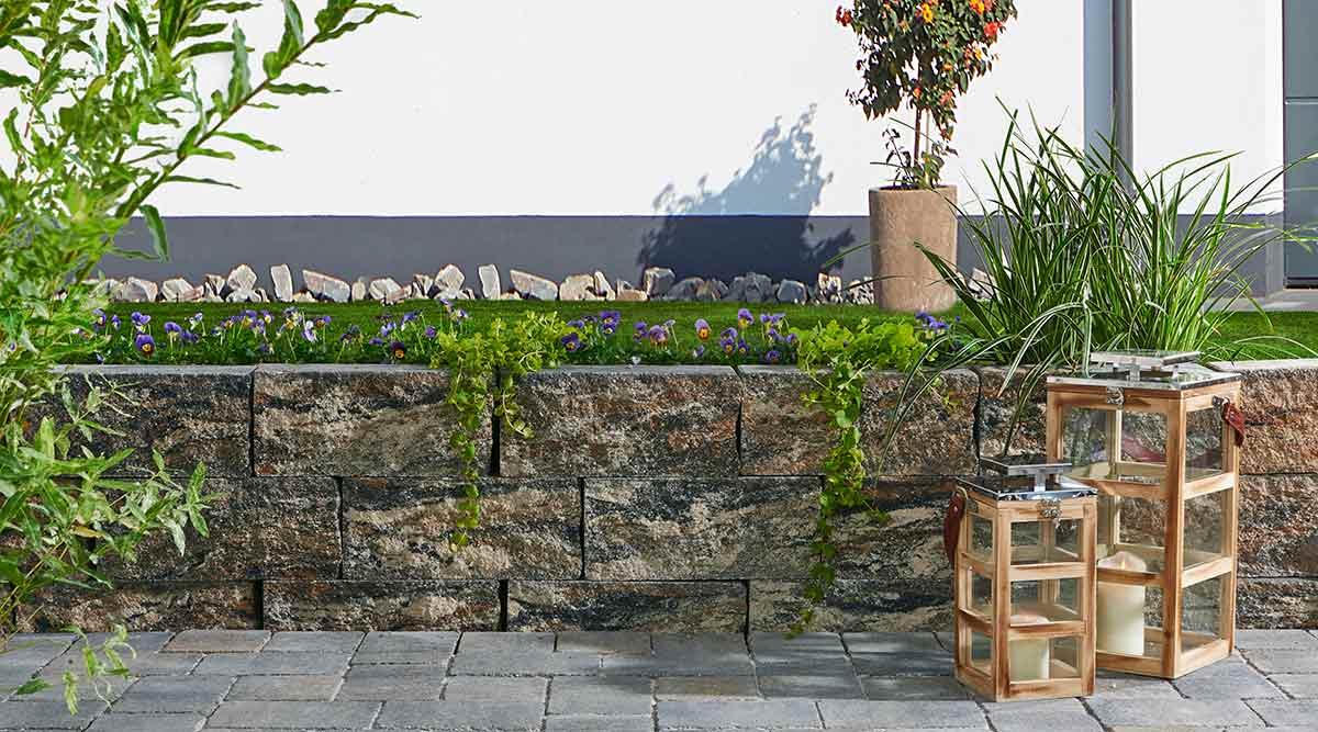 amalfi-spaltmauer gartenmauern, system amalfi - koll steine