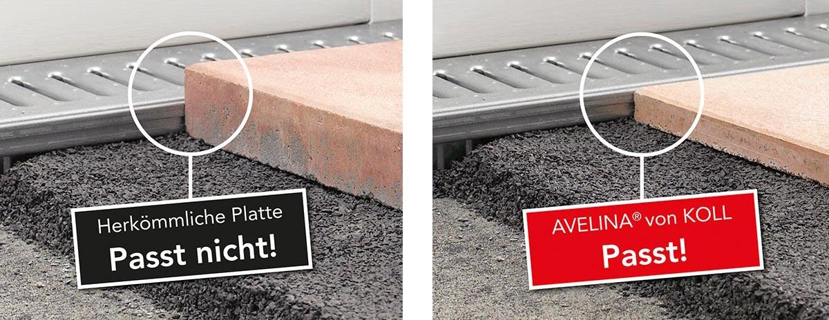 AVELINA Platten Spezialplatten System Avelina Koll Steine - Steinplatten 2 cm stark