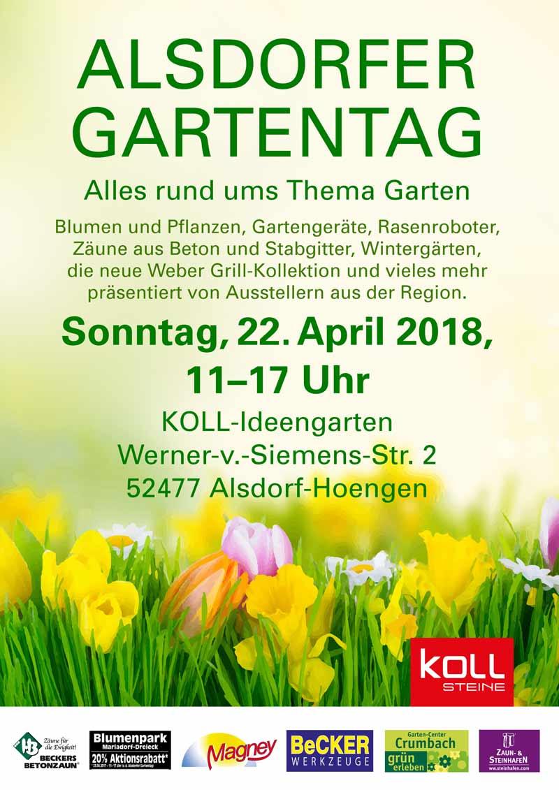22 April 2018 Alsdorfer Gartentag Koll Steine